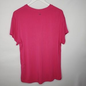 GAIAM Tops - Gaiam Hot Pink Yoga Athletic High-Low Tee Shirt